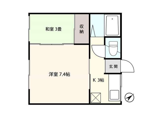 アパート 青森県 青森市 幸畑3丁目 ラ・ネージュポムズⅡ 2K