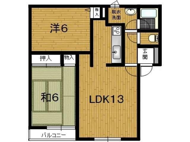 アパート 青森県 青森市 奥野1-1-29 ドミール奥野 1室