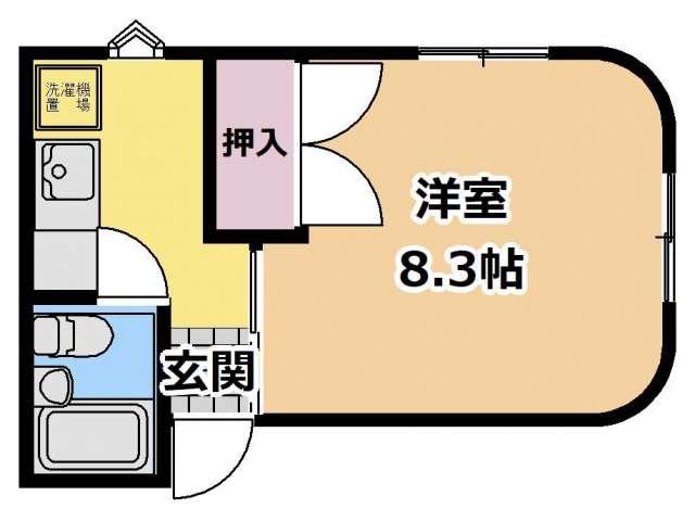 アパート 青森県 青森市 妙見2 パルテノンA 1K