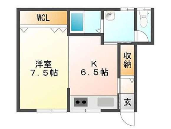 アパート 青森県 青森市 大矢沢字野田 カレッジ5 1DK