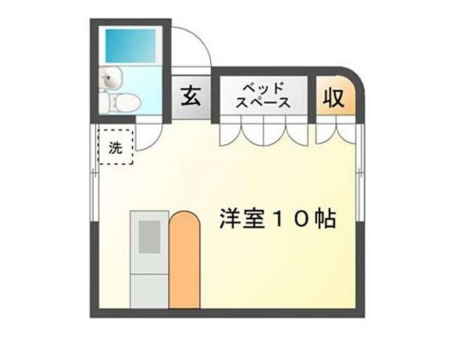 アパート 青森県 青森市 妙見2- パルテノンA 1R