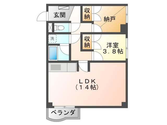 マンション 青森県 青森市 北金沢1-9-10 プレジデント北金沢 1LDK