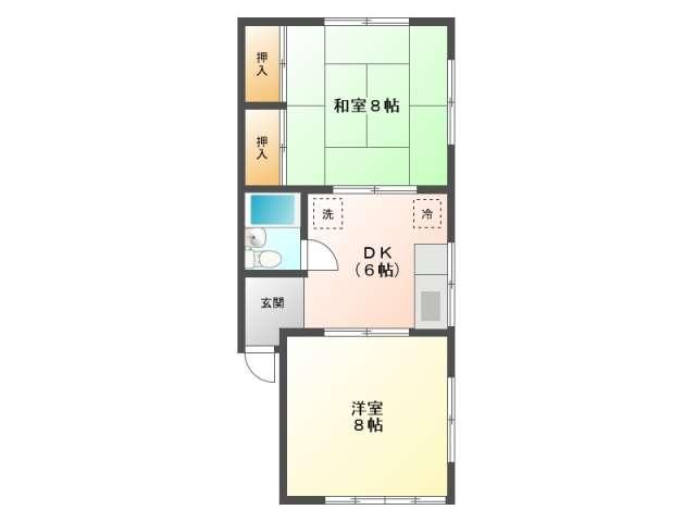 アパート 青森県 青森市 矢作2-6-39 クレセント樹Ⅱ 2DK