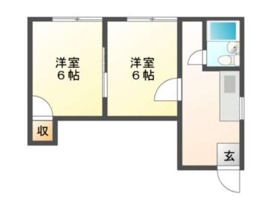 アパート 青森県 青森市 合子沢字山崎 コーポ花田 2K