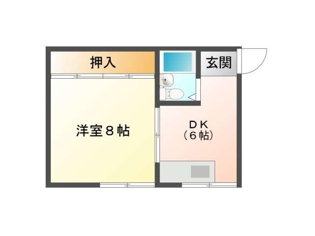 アパート 青森県 青森市 矢田前字本泉26-28 リベルテ本泉A 1DK