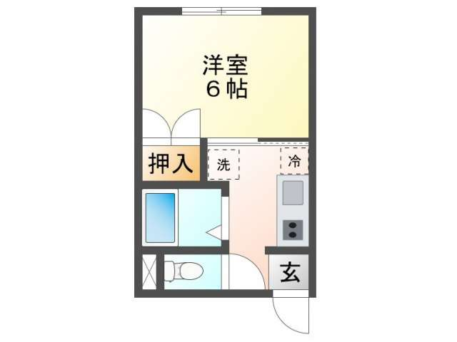 アパート 青森県 青森市 横内字亀井 フローレンスM 1K