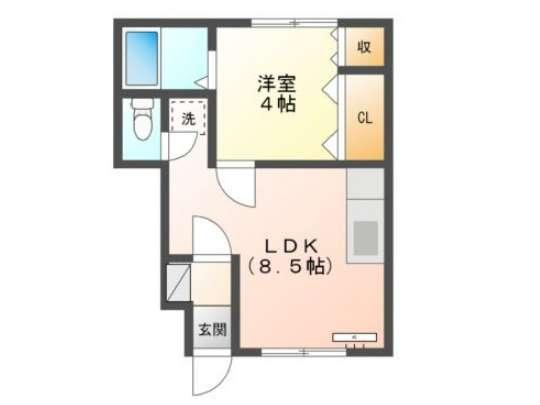アパート 青森県 青森市 造道2-1-19 コーポ三愛 1LDK