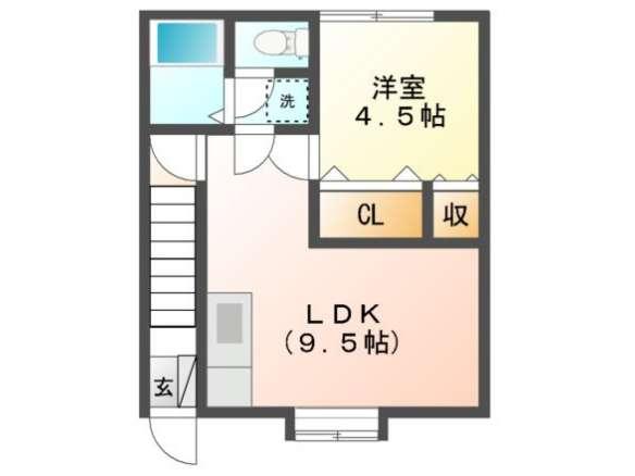 アパート 青森県 青森市 造道2- コーポ三愛 1LDK