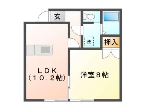 アパート 青森県 青森市 合子沢字山崎130-9 サンワホームAP4 1LDK