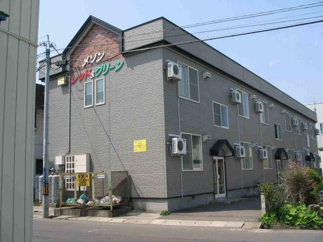 アパート 弘前市富田3-4-19 レッド&グリーン 1K