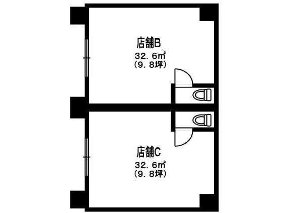 店舗(建物一部) 青森県 青森市 安方1丁目 尾崎ビル 1R