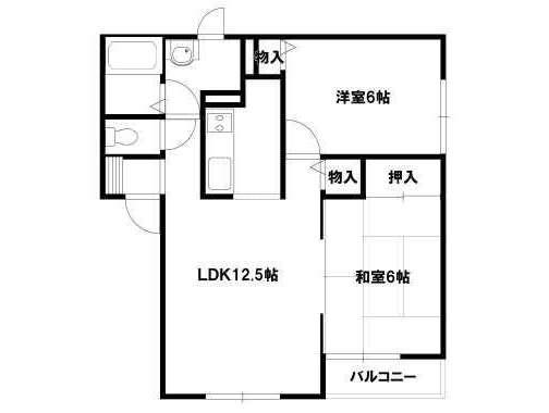アパート 青森県 青森市 大野下山124-1 ヴィレッジTAKI 2LDK