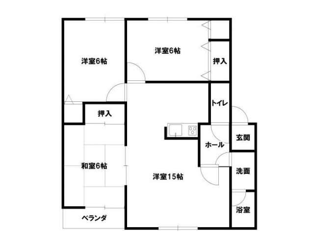 アパート 青森県 青森市 大野山下 ヴィレッジTAKI 3LDK