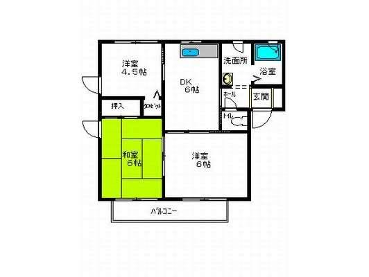 アパート 青森県 八戸市 南類家5丁目 アーバンストリートE 3DK