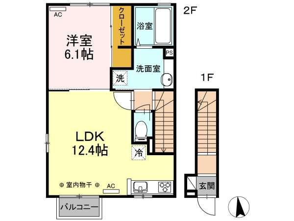 アパート 青森県 八戸市 根城3 リーブラ レオ 1LDK