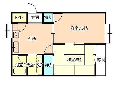 アパート 岩手県 盛岡市 上堂4丁目3-44 アーバンフラットB棟 2DK