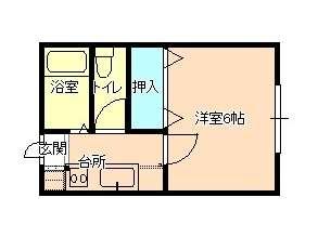 アパート 岩手県 盛岡市 館向町2-7 メゾン紅亜 1K