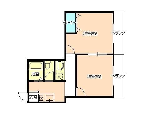 アパート 岩手県 盛岡市 高松3丁目7-31 コーポ高松Ⅱ 2K