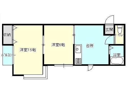 アパート 岩手県 盛岡市 上堂2丁目3-38 ファミール上堂 1LDK