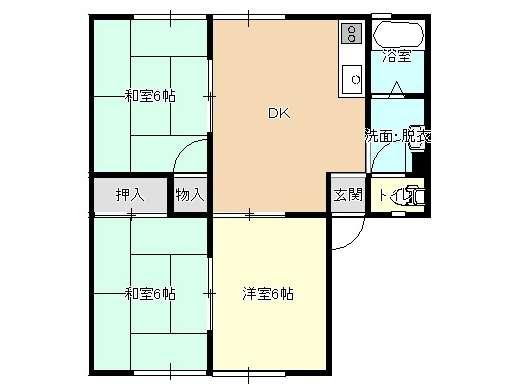 アパート 岩手県 盛岡市 上田2丁目20-21 サンヴィレッジ 3DK