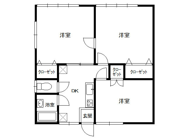 アパート 岩手県 盛岡市 上堂一丁目 コーポユーカリ 3DK