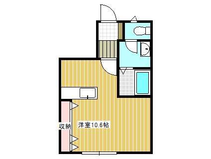 アパート 岩手県 奥州市 水沢字日高小路 コンフォール日高C棟 1R