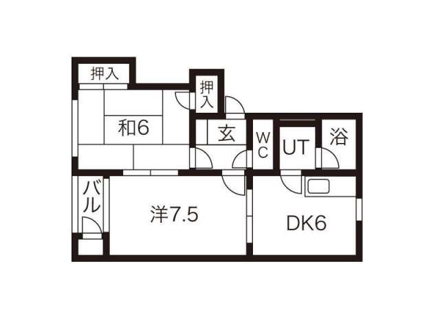 アパート 岩手県 盛岡市 上堂 アップルヴィレッジ X棟 2DK