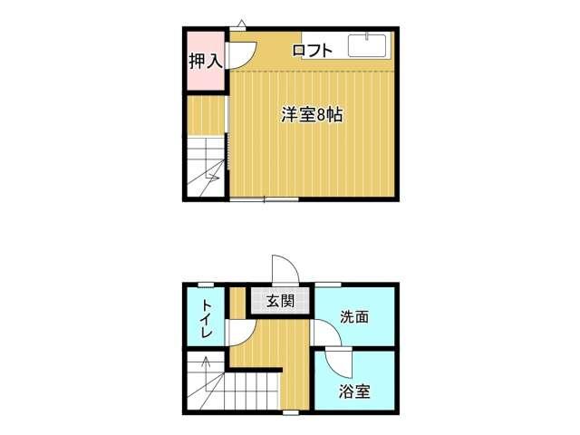アパート 岩手県 盛岡市 上田2丁目 M'Sハウス  1K