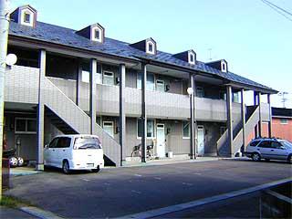 アパート 秋田県 山本郡三種町 鹿渡字二本柳 K・ハウス 1LDK