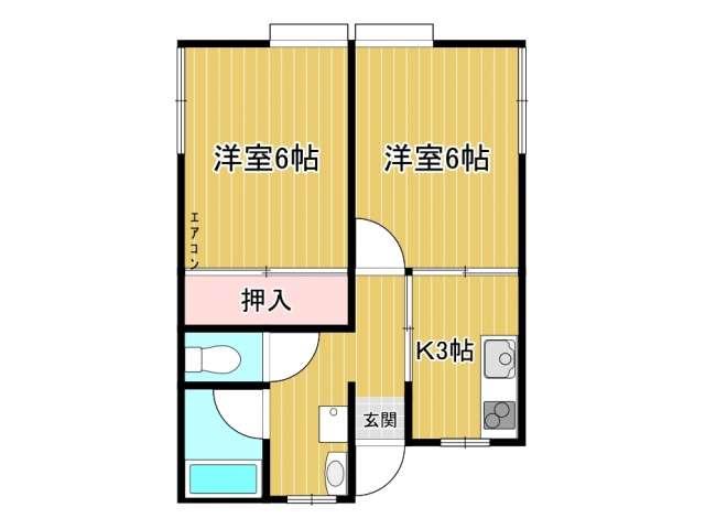 アパート 秋田県 由利本荘市 大鍬町 シャトルキャップ 2室
