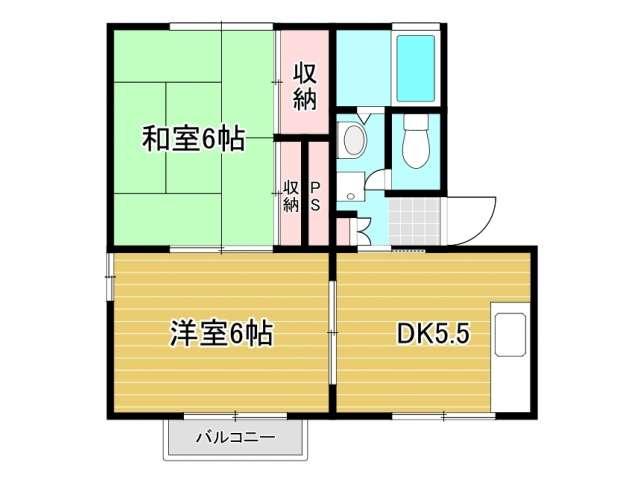 アパート 秋田県 秋田市 牛島西3丁目 グランドゥール鈴木D 2DK
