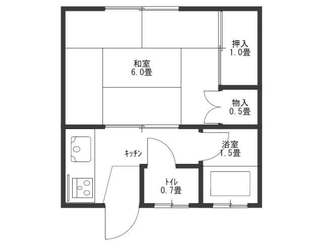 アパート 秋田県 秋田市 横森二丁目 桜ヶ丘ハイツ 1K