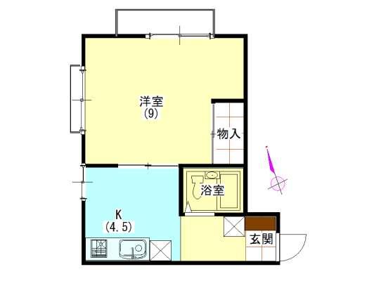 アパート 秋田県 秋田市 千秋中島町5 スペースTERRA 1K