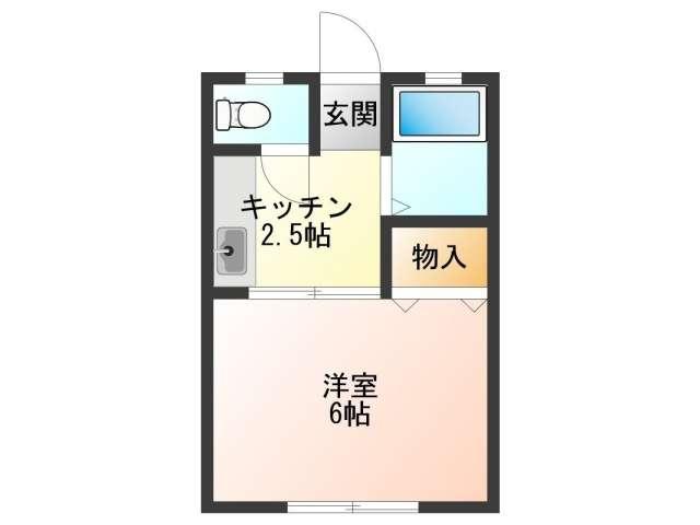 アパート 秋田県 秋田市 手形田中 ニューセンチュリーB 1K