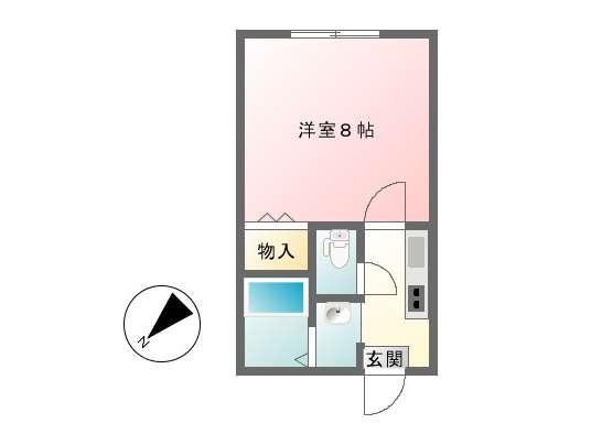 アパート 秋田県 秋田市 濁川字後田 ロイヤルプラザⅢ 1K